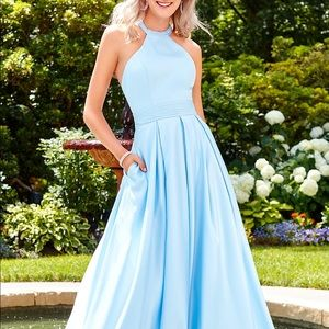 Light blue prom / pageant dress